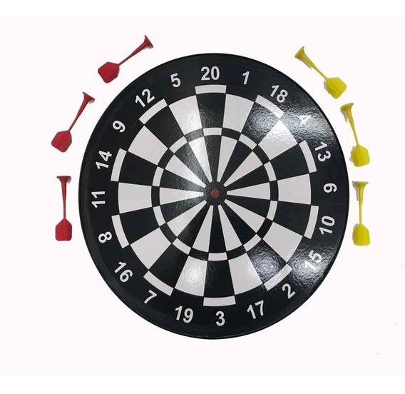 Jogo De Dardo Magnético Hoyle James 6 Dardos 40 Cm - Branco
