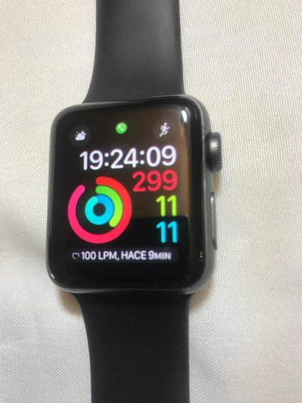 Apple Watch 3 38mm Negro Con Caja Cable Y Extensible Extra