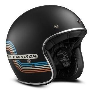 Capacete Harley-davidson Unissex 3/4 Retrô Tam. P E M