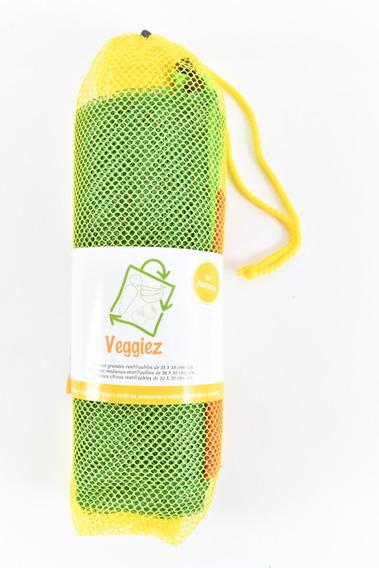 12 Bolsas Para Supermercado Frutas Y Verduras Reusables
