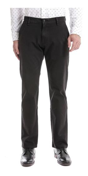 Pantalón Dockers® 360 Hombre Negro Corte Recto Chino