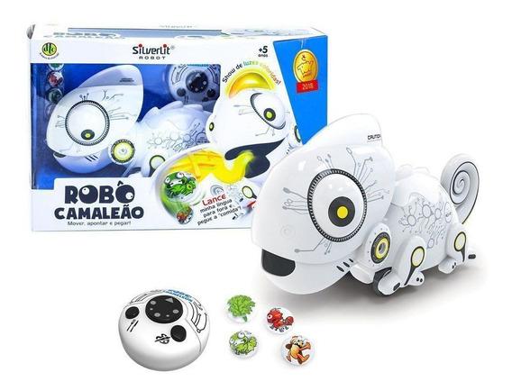 Brinquedo Robo Camaleão Silverlit Controle Remoto Luz - Dtc