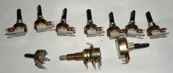 Kit Com 9 Potenciômetros , 10k, 0,5k, 100kbx2 Leia! #3