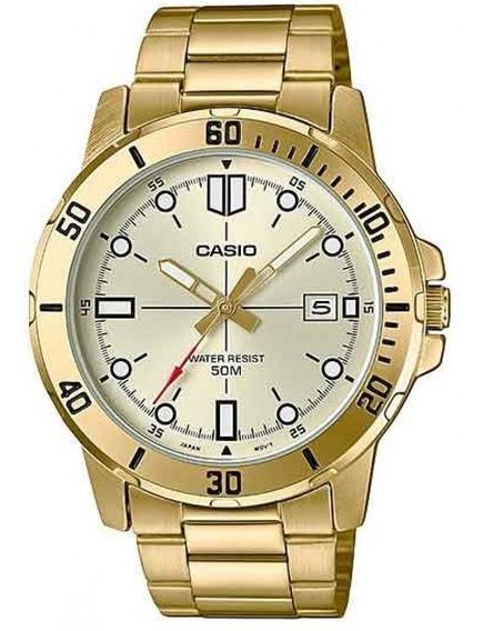 Relógio Casio Masculino Collection Dourado Pulseira Aço