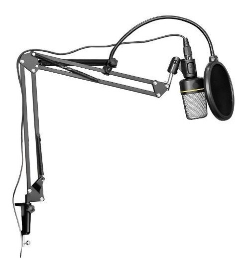 Microfone Estúdio Sf920 + Pop Filter + Pedestal