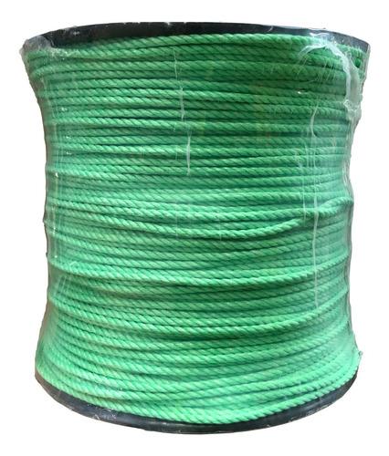 Cuerda De Polipropileno En Carrete De 6 Mm Color Verde