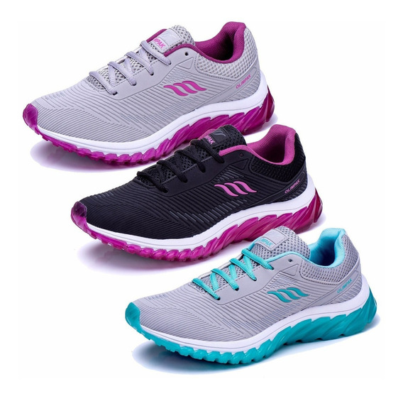 Combo 3 Pares Tenis Feminino Olimp Esportivo Black Friday