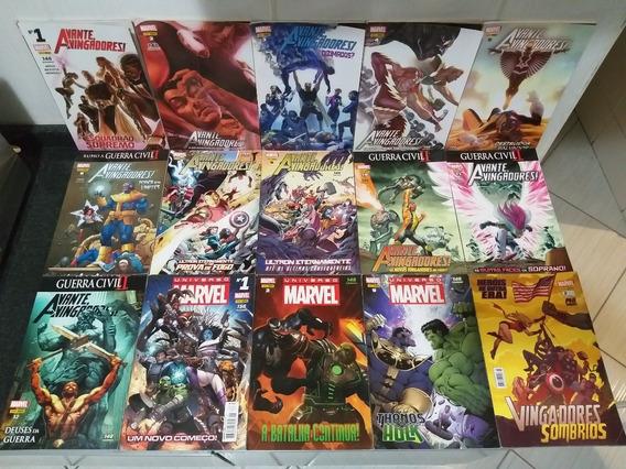 14 Hq Avante Vingadores E Universo Marvel Thanos Panini Rjhm