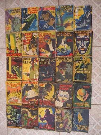 Lote Com 25 Livros Policiais Muito Antigos - Coleção Amarela
