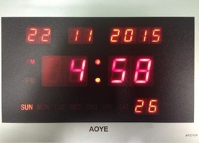 Relógio Parede Digital Led Bivolt Jh-2315