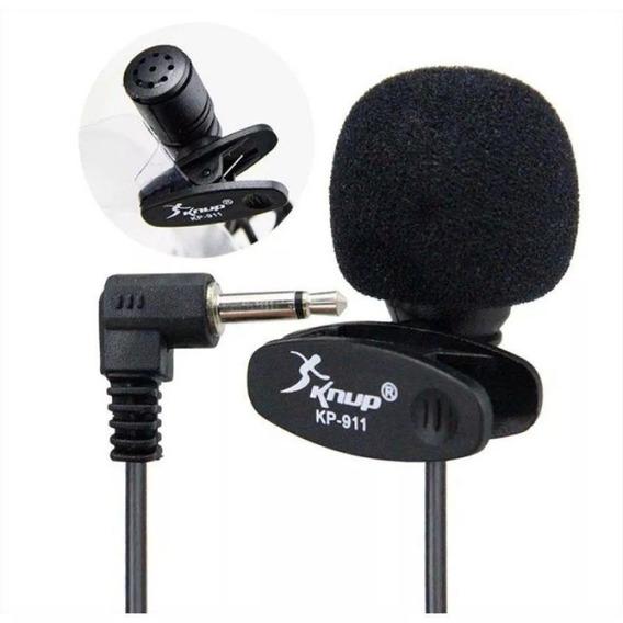 Kit Com 10 Mini Microfone De Lapela Knup - Kp-911