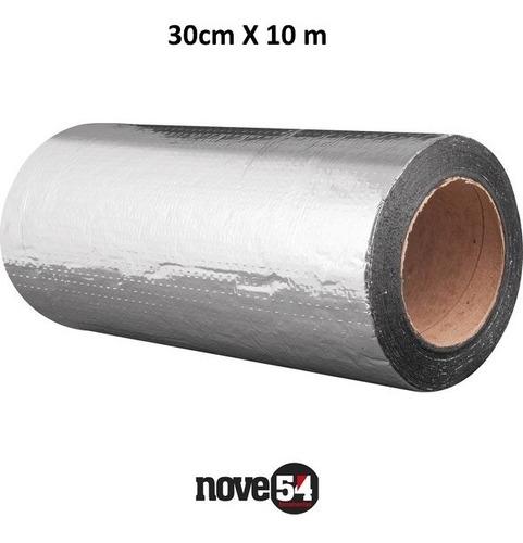 Imagem 1 de 2 de Manta Fita Adesiva Impermeável Aluminizada Asfaltica 30x10m