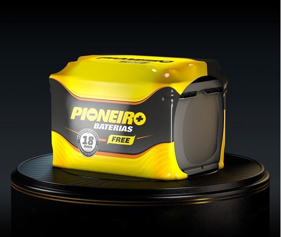 Bateria Pioneiro 12v 60ah Gol Uno Celta Saveiro Fox Carro