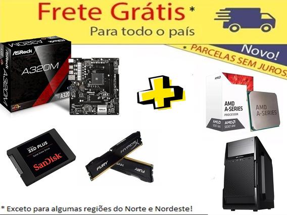 Kit Asrock Am4 + A10 9700 + 8gb Hyperx + Gab + Ssd 120