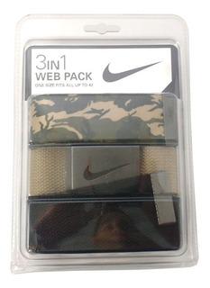 Cinto Nike Golf Masculino - Combo 3 Em 1 - Ajustável