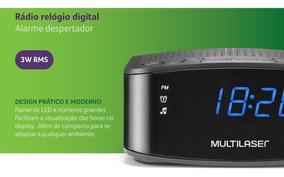 Relógio Rádio Digital Dual Alarme Bivolt Multilaser Sp288