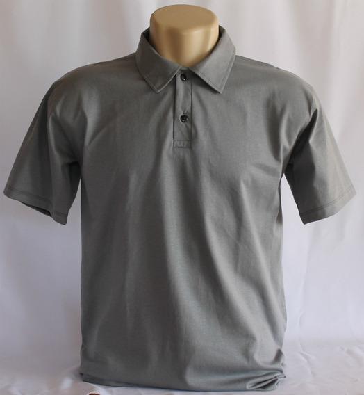 Kit 5 Camisa Polo Malha Lisa100% Algodão Fio 30.1