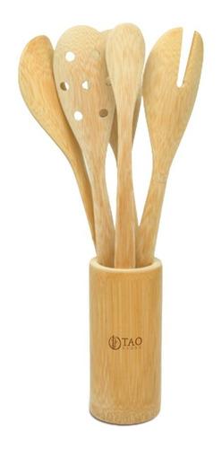Kit Colheres De Bambu Hortelã