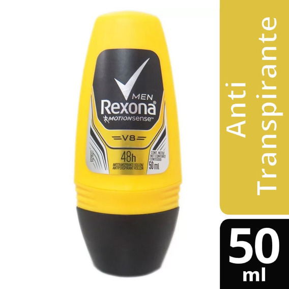 Desodorante Antitransp Rollon Rexona Men Tuning V8 48h 50ml