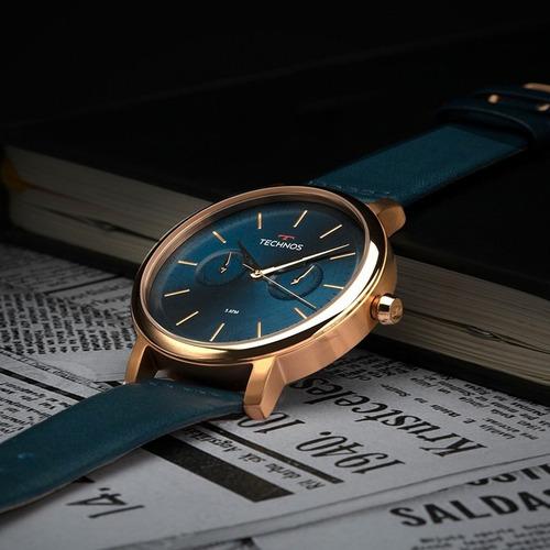 Relógio Technos Masculino Executive 6p25bs/2a Rose Couro Nf