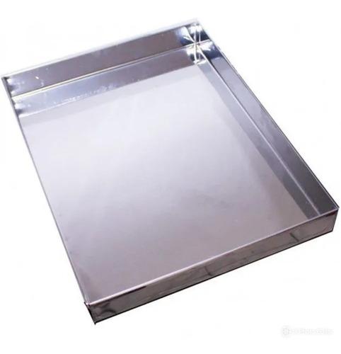 Bandeja De Aço Inox 430 - 0.28 - 50x46x3- Kit Com 4 Unidades