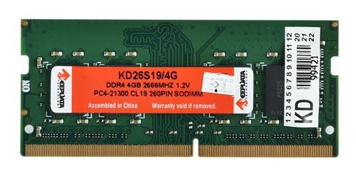 Imagem 1 de 1 de Memoria Para Notebook Keepdata 4gb 2666mhz Sodimm