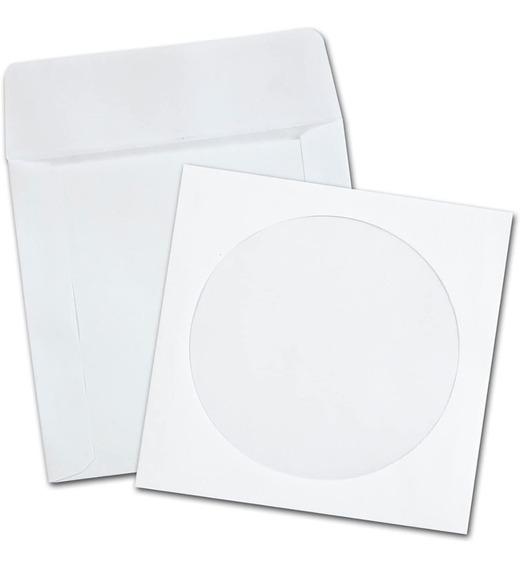 1000 Mil Envelopes Brancos Cd - Dvd Com Janela Transparente
