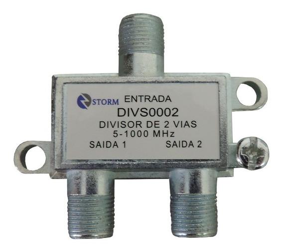 Kit Com 10 Peças Divisor Para Antena Tv 1x2 Divs0002 Storm.