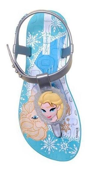 Ipanema Infantil Frozen Grendene Azul/prata - Tam. 28