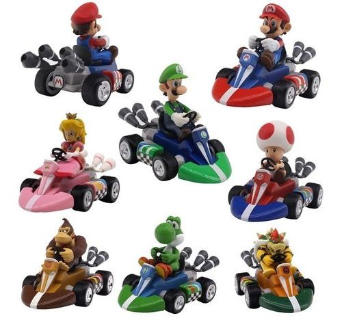 Imagen 1 de 10 de Mario Kart Carros Super Mario Bros Colección + Obsequio