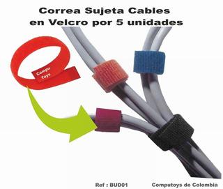 Zbud01 Correa Sujeta Cables Velcro X5 Qbud01q Compu-toys