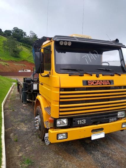 Scania 113 1998 Amarela Com Muk