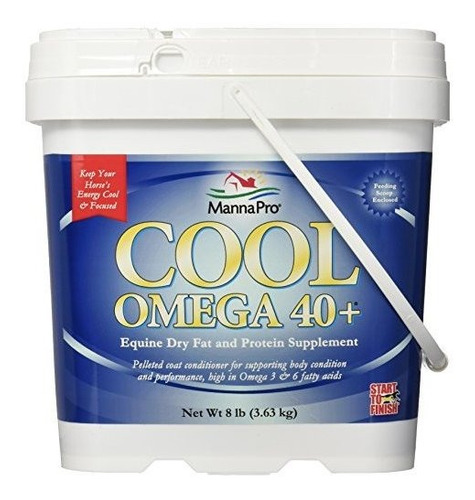 Manna Pro Comienza A Terminar Cool Omega 40 Plus 8 Lb