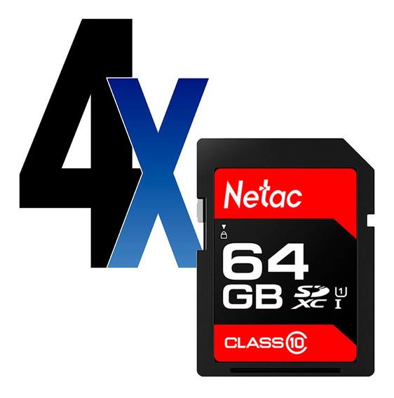 Cartão Memória 64gb Sdhc 100mb/s Netac 4un