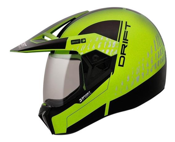 Capacete Moto Bieffe 3 Sport Drift Masculino E Feminino