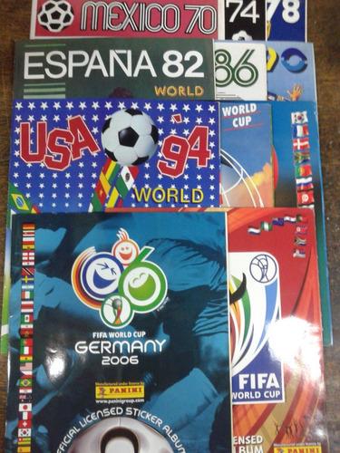 Imagen 1 de 8 de Albumes Copa Mundial De La Fifa 1970/2010 * Album Figuritas