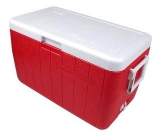 Hielera 48 Cuartos Rojo Con Asas 3000000154 Coleman