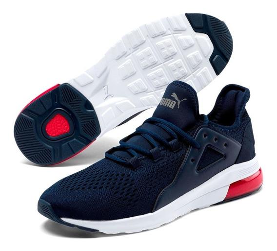 Zapatillas Puma Electron Street Eng Mesh Hombre Running Azul