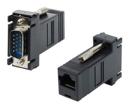 Convertidor Adaptador Extension Vga A Rj45 Conector El 2 Par