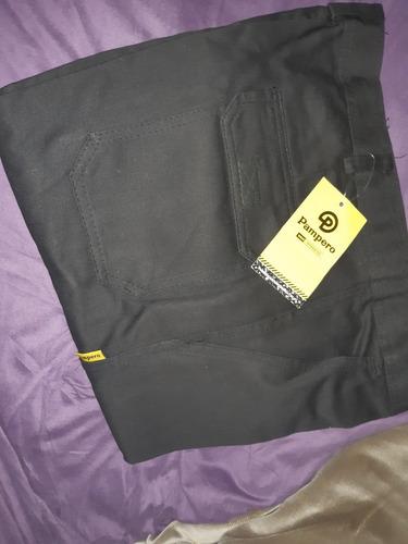 Pantalon Cargo Pampero Uso Intenso Talle 50 Color Negro Okm