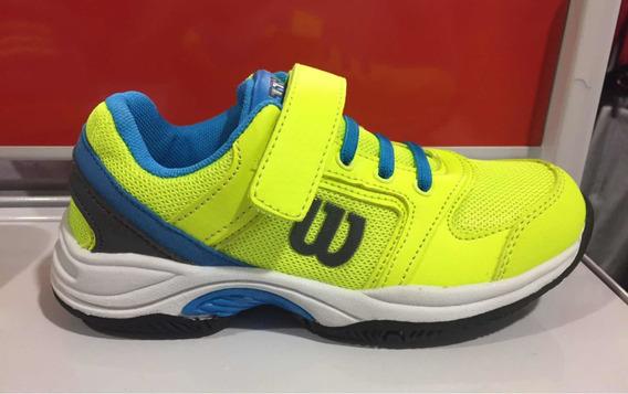 Zapatillas Wilson Set Tenis 2.0 Niño Nene Amarillo/azul