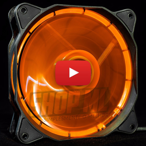 Cooler Fan Pc Gamer 120mm Led Laranja Ventoinha Dx-12f