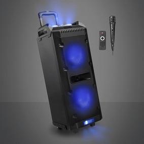 Caixa De Som Torre Led 300w Bluetooth Usb Aux Fm Multilaser