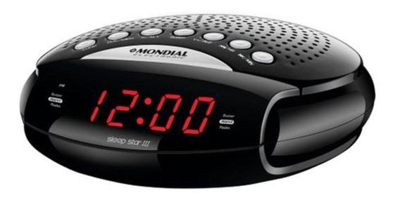 Rádio Relógio Despertador Am Fm Mondial Dual Alarme