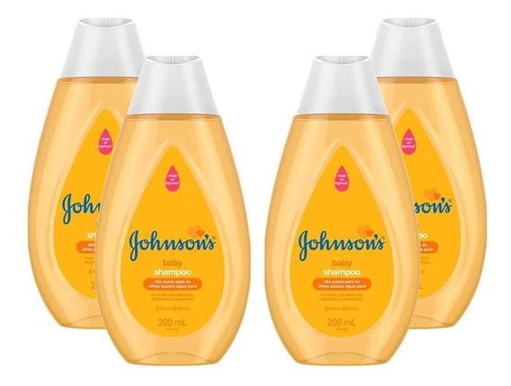 Kit Com 4 Shampoos Johnsons Baby Regular 200ml
