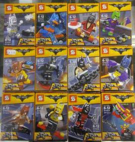 Bat Hero Blocos De Montar 12 Personagens 300 Peças