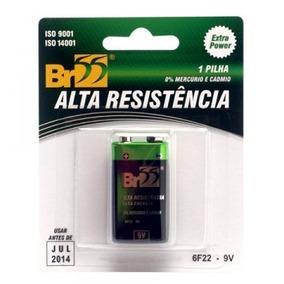 Barteria V9 Br55 Alta Resistência, Zinco-carbono 10 Unidades