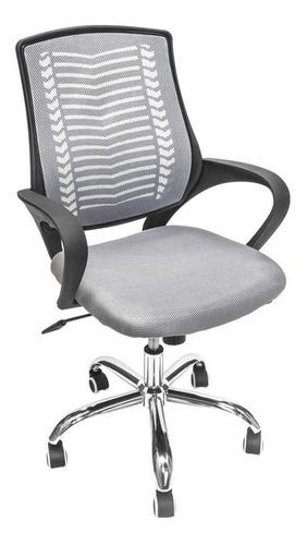 Imagen 1 de 4 de Silla de escritorio Top Living SILL-C2 ergonómica  gris con tapizado de mesh
