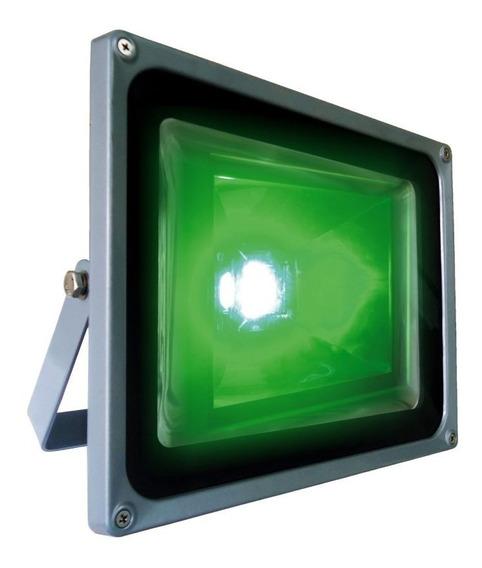 Refletor Holofote De Led Verde De 30w - Dni 6055