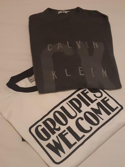 Lote 2 Remeras Calvin Klein Y Otras